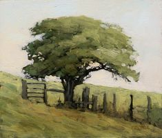 "Marc Bohne, Down toward Bantry Bay, Oil on panel (6"" x 7"") #artpainting #OilPaintingTrees"