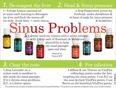 Young Living Essential Oils for Sinus Problems Essential Oils Sinus, Oils For Sinus, Essential Oil Uses, Doterra Essential Oils, Natural Essential Oils, Yl Oils, Young Living Oils, Young Living Essential Oils, Healing Oils