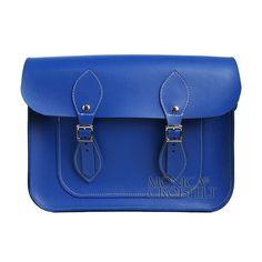 Bolsa Croisfelt Satchel Feminina Carteiro, Azul Royal Cobalto 11'' Retro Vintage #mensageiro #transversal #moda