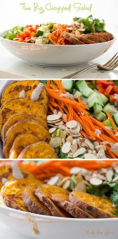 The Big Chopped Salad! Vegan, gluten-free, grain-free