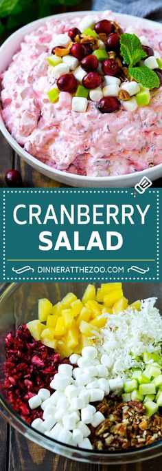 WMF Cutlery And Cookware - One Of The Most Trustworthy Cookware Producers Cranberry Salad Recipe Fluff Salad Cranberry Salad Recipes, Fruit Salad Recipes, Jello Salads, Winter Salad Recipes, Dessert Recipes, Dessert Salads, Cookie Recipes, Thanksgiving Fruit Salad, Christmas Fruit Salad