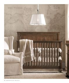 Adorable neutral nursery with world travel feel. https://catalogs.restorationhardware.com/app.php?RelId=6.5.1.22