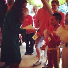 The Duchess meets The Flash at Rainbow Place.
