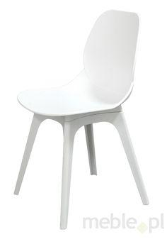 Krzesło LEAF DSX białe polipropylen - podstawa polipropylen, KHOME - Meble