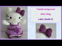 Tutorial amigurumi Hello Kitty - Lazo (mod-1) - YouTube