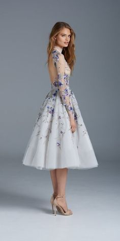 This enchanting naked dress looks straight out of a Disney princess movie.