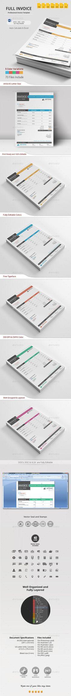 Invoice Template #design Download: http://graphicriver.net/item/invoice/14122158?ref=ksioks