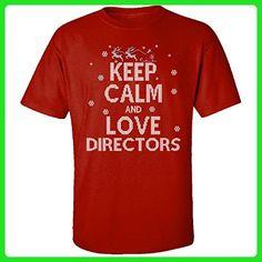 Keep Calm And Love Directors Jobs Ugly Christmas Sweater - Adult Shirt 3xl Red - Holiday and seasonal shirts (*Amazon Partner-Link)