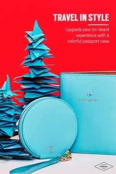Let your passport do the talking this holiday! Upgrade your on-board experiences with vibrant travel accessories like Fossil's colorful passport case. In luxe leather, it's a stylish addition to all your journeys ahead. 'Tis the season to be stylish, so what are you waiting for? Shop Fossil's amazing gifts for him and her today.
