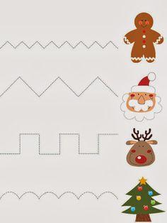 Foto: Christmas Worksheets, Christmas Math, Christmas Activities For Kids, Preschool Christmas, Toddler Christmas, Christmas Themes, Preschool Cutting Practice, Preschool Writing, Preschool Activities