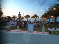 Welcome to a beautiful Reception on our Yacht Club Event Lawn! #FaroBlanco #Wedding #Reception #Lighthouse #Destination #Venue #Decor #FLKeys