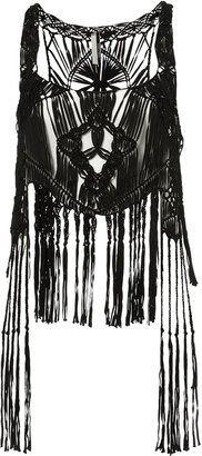 ShopStyle: Macrame Fringed Vest