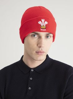 DICKIES Men/'s Cuffed Beanie *Bright Yellow//Red//Gray W// Logo Patch *One Size