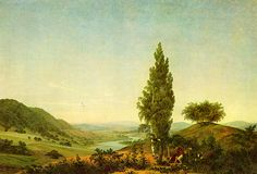The Summer (Der Sommer (Landschaft mit Liebespaar)) (1807) Neue Pinakothek, Munich .  Caspar David Friedrich