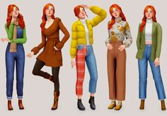 Maxis, Sims Building, Sims 4 Mm Cc, Sims 4 Cas, Sims 4 Clothing, Sims Mods, Sims 4 Custom Content, Female Poses, Cold Weather