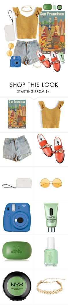"""""""San Francisco"""" by kathrynesker ❤ liked on Polyvore featuring Chicwish, American Apparel, Fiorelli, Fujifilm, Clinique, Sisley, Essie, ULTA and Rebecca Minkoff"""