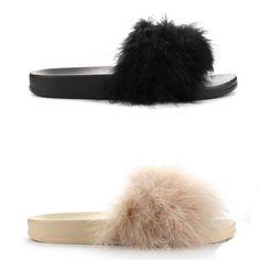 Daysi Faux Fur Slides