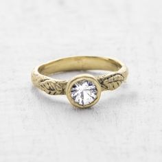A unique nature inspired engagement ring that is simple & organic  #engagementrings #wedding http://www.roughluxejewelry.com/