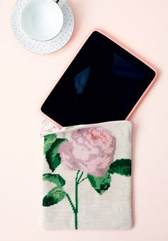 Repurpose a vintage tapestry as an iPad-pouch