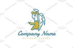 For sale. Only $29  #religion #angel #wings #prophet #messenger #judge #holy #priest #church #saint #guide #blue #golden #memorable #mascot #cartoon #illustration #fun #apostle #harbinger #blessing #character #hand #pointing #future #success #guidance #navigation #leadership #annunciation #hope #judgment #logo #design #template