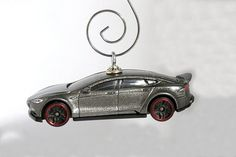 Tesla Model S Electric Car Christmas Ornament  by BettyGiftStore