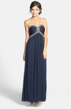 Xscape Evenings Beaded Jersey Strapless Gown on shopstyle.co.uk