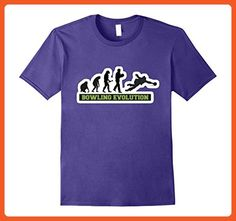 Mens The Evolution Of The Bowling People Funny Novelty Tshirt Large Purple - Funny shirts (*Partner-Link)