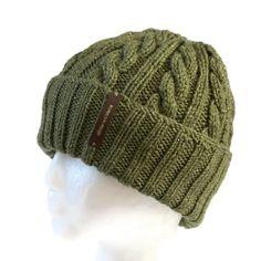 0976ecdea70 Kid s Green Beanie with Optional Satin Lining - Small Hand Knit Toboggan
