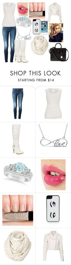 """""""Rosalina"""" by kiara-fleming ❤ liked on Polyvore featuring Dondup, Style & Co., Allurez, Charlotte Tilbury, Kate Spade, Fat Face, Witchery and Yves Saint Laurent"""