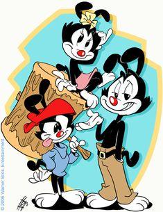 Animaniacs by derrickfish.deviantart.com on @deviantART  Yakko, Wakko and Dot Warner