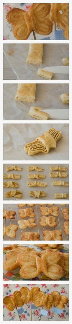 Fast Homemade Recipes: Butterflies Puff - My Special Recipes Puff Pastry Recipes, Cookie Recipes, Decoration Patisserie, Delicious Desserts, Yummy Food, Bread And Pastries, Food Humor, Special Recipes, Creative Food