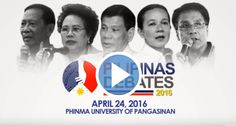 The third and final Philippine presidential debate is set on Sunday, April 24, 2016 LIVE on ABS-CBN network.