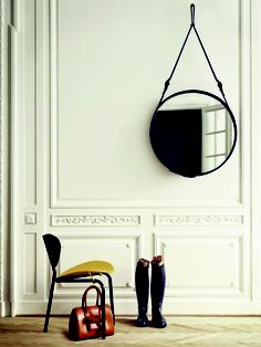 """""""Modern Mirror On The Wall"""" from What We Like NYC // Adnet Circulaire, Gubi  available at www.morgen.org"""