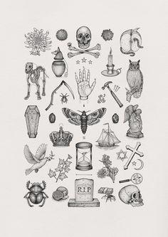 Illustration by Bradley Jay - Image of 'Das Allerletzte' Limited Edition Giclée Fine Art Print