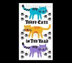 Cat Cross Stitch Cat Pattern Cross Stitch by NewYorkNeedleworks