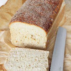 Brödet jäser bara en gång i formen och behöver inte knådas. Enkelt och smidigt!