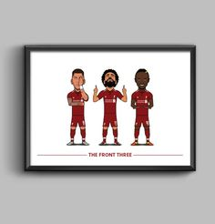 This listing is a Character stye poster of Liverpool Star Front Three of Roberto Firmino, Mo Salah & Sadio Mane. The poster comes in a choice of sizes x or x Posters are printed on canvas style paper. Liverpool Champions, Liverpool Fans, Art Terminology, Ryan Babel, The Marksman, Dennis Bergkamp, Xabi Alonso, Michael Owen, Mo Salah