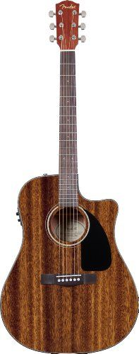 Black Friday Fender CD-60CE Dreadnought Cutaway Acoustic-Electric Guitar with Hard Case - All Mahogany from Fender