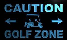 Caution Golf Zone Neon Light Sign