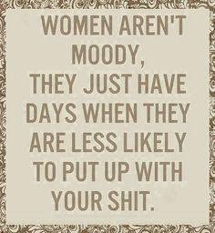 Women aren't moody
