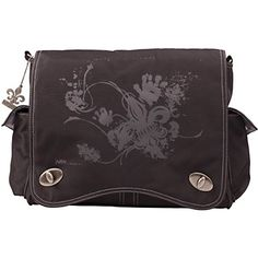 Black Screened Messenger Diaper Bag for the dads