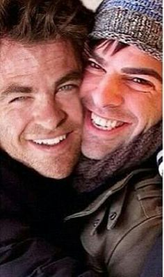 Adorable! Zachary Quinto and Chris Pine!!