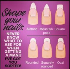 Shape Your Nails- nail shapes with names