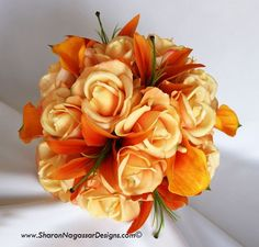 yellow peonies orange calla lilies | Real Touch Flowers, Natural Touch Flowers, True Touch Flowers, Wedding ...