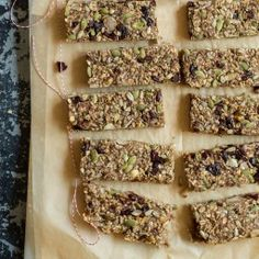 Feel Good Hearty Granola Bars (add a touch of maple syrup- they're not very sweet)