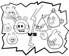 bad piggies vs angry birds free printable coloring sheets - Fun Coloring Sheets Printable