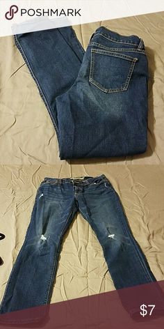 """Women's jeans Slightly distressed """"sweetheart"""" jeans (Old Navy) Old Navy Jeans Straight Leg"""