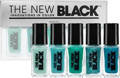 The New Black Ombre 5-Piece Nail Polish Set