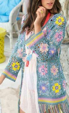 Stylish and Lovely Crochet Cardigan Patterns and Ideas Part crochet cardigan pattern; crochet cardigan with hood; crochet cardigan plus size; Crochet Coat, Crochet Cardigan Pattern, Crochet Jacket, Crochet Blouse, Easy Crochet Patterns, Crochet Clothes, Tutorial Crochet, Free Crochet, Knitting Patterns