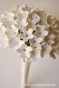 CLAYCRAFT by DECO Stephanotis Wedding Bouquet by dkdesignshawaii